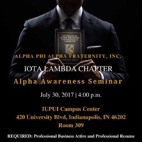 Alpha Phi Alpha Iota Lambda Chapter Awareness Seminar